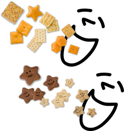 Assorted Busy Baker crackers and cookies