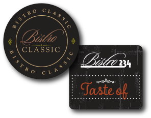 "Bistro 234 ""Taste of"" Hang Tag and Label for sauces"